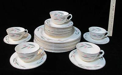 Knowles Carlton 27 Piece Set Dinner Plates Bread Butter / Dessert Cup & Saucers
