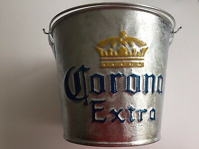 Large Corona Silver Ice Bucket with Handle Wine Drinks Cooler Champagne