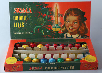 1940s Noma Brand Boxed Set Of 20 Bubble-Lites Christmas Set Unused Original Set