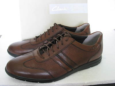 NEW CLARKS GATEWOOD SOFT BROWN LEATHER SHOES SIZE 7 /& 7.5