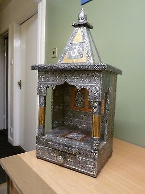 """AMAZING LARGE HAND-MADE HINDU SHRINE REALLY LOVELY 10"""" x 13"""" x 27""""TALL CAN HANG"""