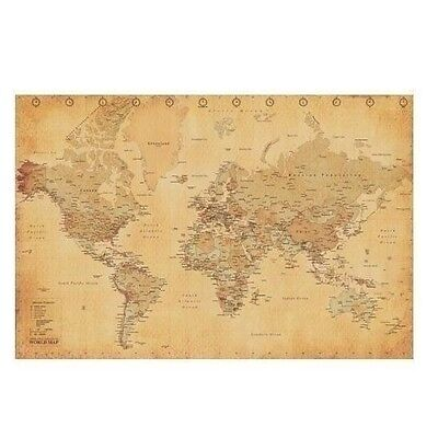 NEW Vintage Antique Style World Globe Geography Map Decor Art Poster Print 24x36
