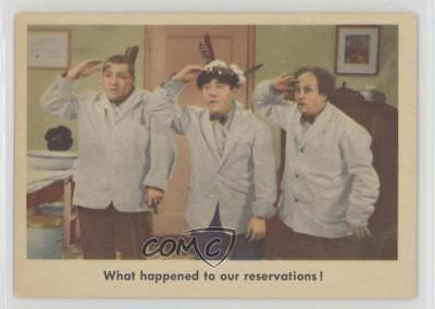 1959 Fleer The 3 Stooges #28 What happened to our reservations! Card k5i
