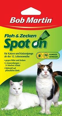 Bob Martin Spot On Against Fleas & Ticks for Cats 24 Weeks Protection