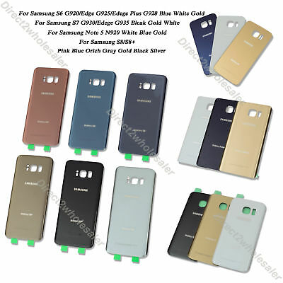 For Samsung Galaxy S6/Edge/Plus S7/Edge S8 Plus Note 5 Battery Cover Glass Door