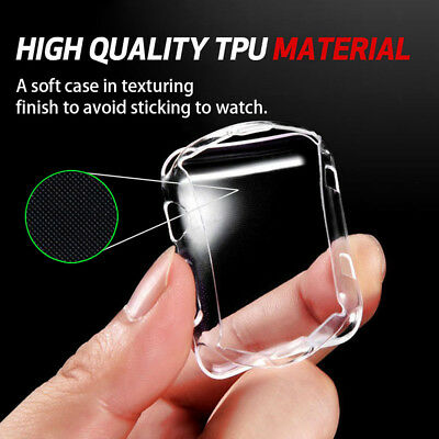 For Apple Watch Series 3 2 1 Ultra Thin TPU Full Protective Case Cover 38/42mm