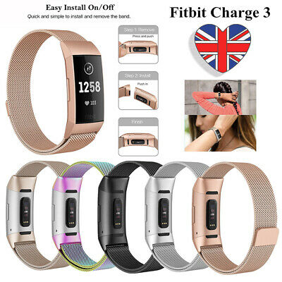 Watch Band Strap Fitbit Charge 2 Replacement Magnetic Milanese Stainless Steel