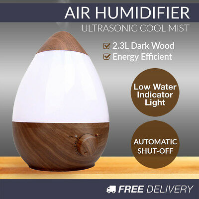 Ultrasonic Humidifier Mist Maker Fogger Electric Aroma Diffuser Essential Oil AU