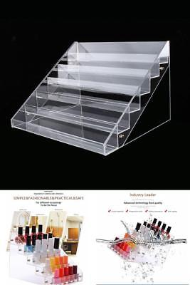 Nail Polish Table Rack Acrylic Clear Makeup Display Stand Rack Organizer Holder