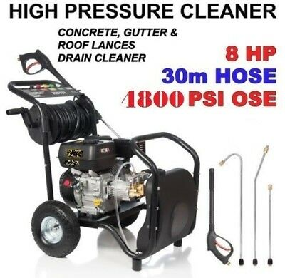 New Black Jet  High  Pressure Water Washer Cleaner  8 Hp  Self Suction  Gurney.