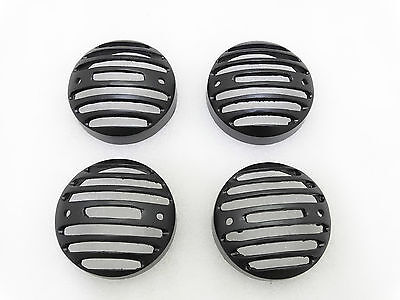Royal Enfield Classic Set Of 4 Front Rear  Indicator Grill Black Aw@uk