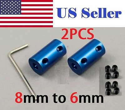 2Pcs 5mm x 6mm Rigid Shaft Coupler Stepper Motor CNC Coupling 3D printer