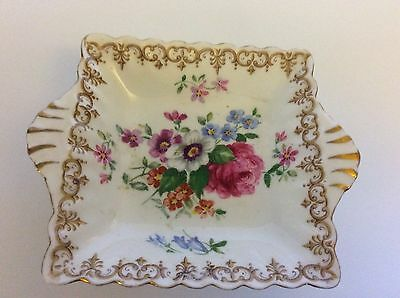 "Vintage Crown Staffordshire ""Englands Bouquet"" Nut/Candy Dish"