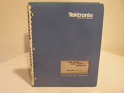 Tektronix Dual Trace Amplifier 7A18/7A18N  Instruction Manual