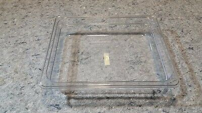 "Winco SP7202 Clear Half Size Poly-Ware Food Pan 2.5"" 2 1/2"" T45-T46"
