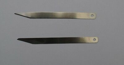 2 X Clicker Knife Blades For Leather Cutting Bevel Point  - Fast Dispatch