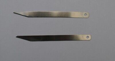 Clicker Blade For Leather Cutting Bevel Point X 2