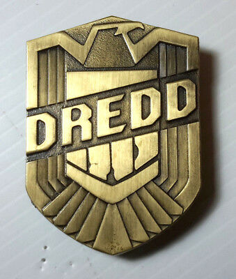 "Judge Dredd 3"" Bronze Metal Uniform  Badge-High Quality Reproduction"