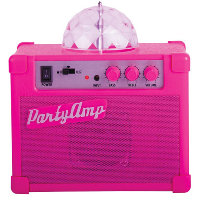 Fizz Creations Party Amp Speaker, Amplifier with Rotating Disco LED Lights-Pink