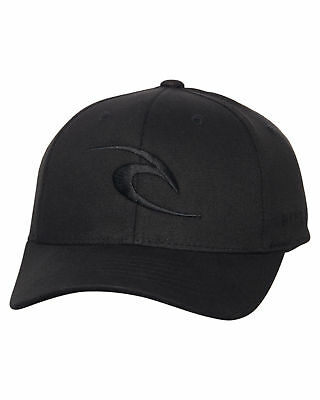 New Rip Curl Boys Kids Boys Tepan Curve Peak Cap Cotton Fitted Black