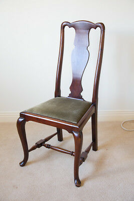 Antique mahogany Queen Anne style chair