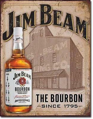Jim Beam Kentucky Bourbon Whiskey Vintage Style USA Werbung Plakat Schild
