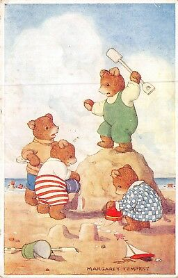 POSTCARD  CHILDREN    BEAR  Related    SEASIDE          Margaret  Tempest