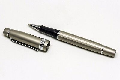 Zippo Silver Brushed Chrome Cap On//Off Roller Ball Pen 41120 B **NEW**