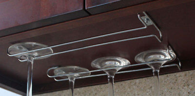 Under Cabinet Wine Glass Stemware Rack Holder Hanger for Kitchen Home Bar