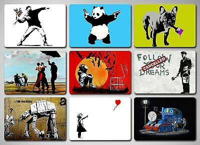 Glossy Fridge Magnet Set - 9 Stunning Banksy Street Art Posters Waterproof
