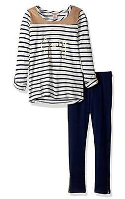Juicy Couture Girls Striped Top & Legging Set Size 2T 3T 4T 4 5 6 6X