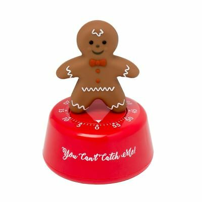 Gingerbread Man Kitchen Timer - Christmas Festive Timer - 60 Minute Countdown