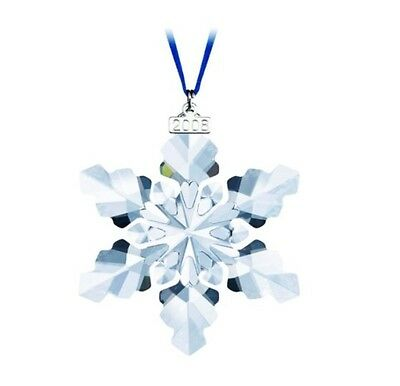 Brand New 2008 Large Swarovski Crystal Christmas Ornament Star/snowflake 0942045