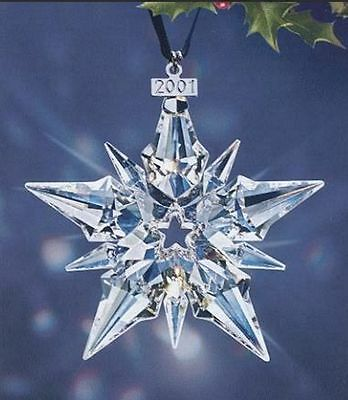 Brand New 2001 Large Swarovski Crystal Christmas Ornament Star/snowflake #267941
