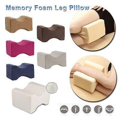 Memory Foam Leg Pillow Cushion Hips Knee Support Pain Relief w/Washable Cover L