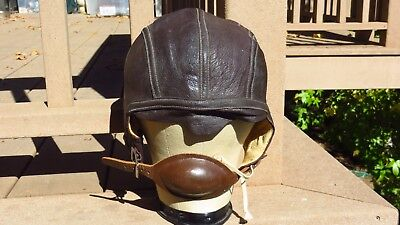 WW2 USN US Navy Slote & Klein Flight Helmet Skull Cap Large Mint