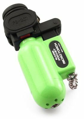 Pocket Size Wind Resistant Wide Flame Butane Refillable Torch Lighter by Blazer