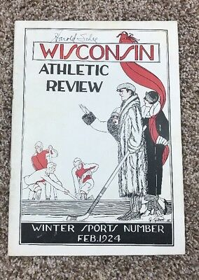 Univ. Of Wisconsin Vintage Athletic Review Feb. 1924 Football Basketball Rare