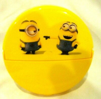 Disney Despicable Me Minions 1pc mealtime flip up lid snack container-Brand New
