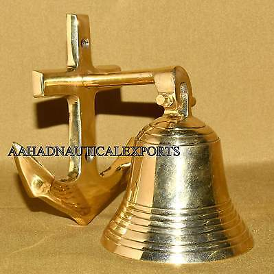 Solid Brass Nautical Style Bell Brass Nautical Anchor Bell #