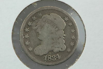 1834 Half Dime G Punched