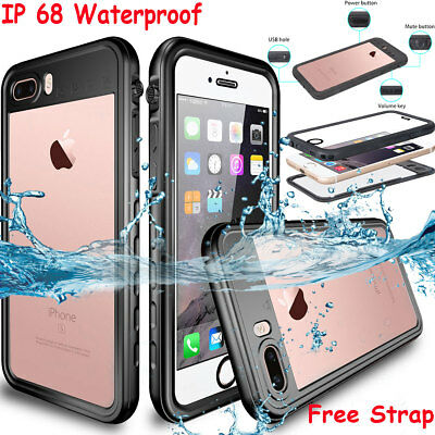 Waterproof Shockproof Heavy Duty Tough Armor Case Cover Apple iPhone X 8 7 Plus
