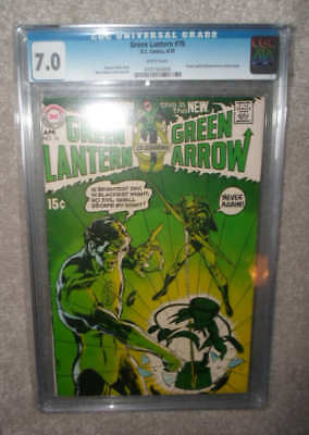 DC Comics GREEN LANTERN 76 Arrow CGC 7.0 White pages 1970  1st team up