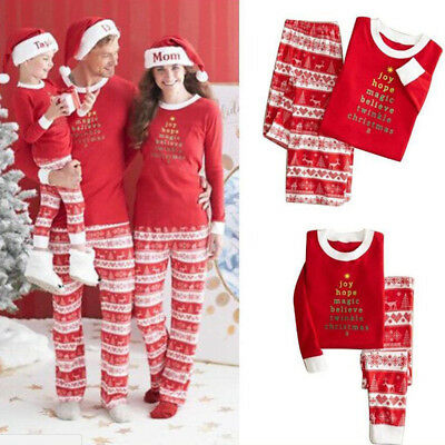 Family Christmas Pajamas Set Xmas Pj's Matching Pyjamas Men Adult Kids Sleepwear
