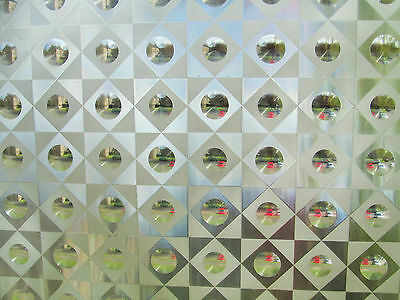 5m/10m/15m  3D Laser Frosted Decorative Static Stained GlassWindow Privacy Film
