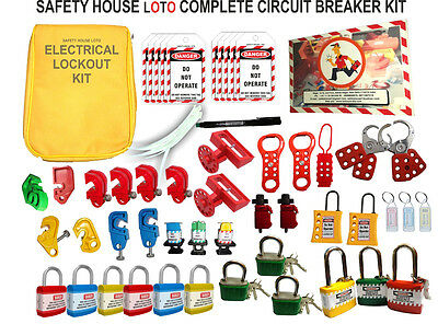 SH LOTO Large MCB Lockout Tagout Kit hasp mcb lock out station group lockout box