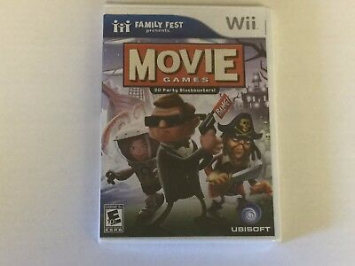 Family Fest Presents Movie Games Nintendo Wii Complete Video Game New Sealed