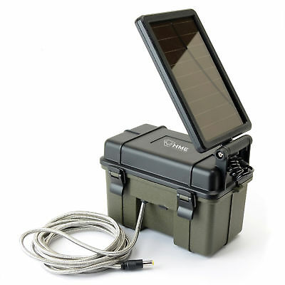 HME Trail Camera Waterproof 12 Volt Solar Auxiliary Lead Acid Battery Power Pack