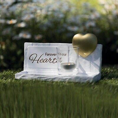 Pet Dog or Cat Stone & Heart Memorial loss of your pet for grave keep sake ashes