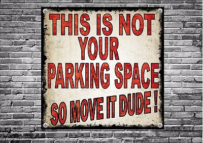 No Parking 24 Hour Access Required  Design Metal Sign Novelty Joke Parking Sign